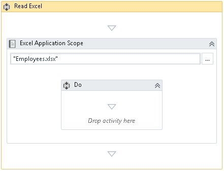 Configure the Excel Application Scope