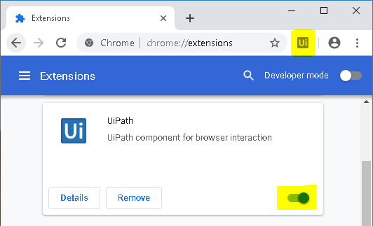 Learn how to fix the UiPath Chrome extension error