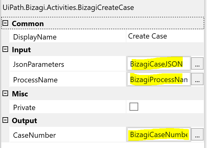 Bizagi Create Case